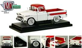 M2 Machines - Chevrolet  - M2-40300-47A : 1958 Chevrolet Apache Cameo, white/red