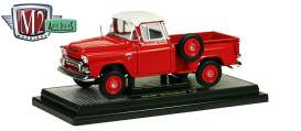 M2 Machines - GMC  - M2-40300-43Br : 1959 GMC Step Side 4x4 with side mount tire and V8 Engine, red *Auto-Trucks Release 43B*