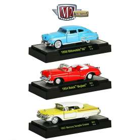 M2 Machines - Assortment/ Mix  - M2-32500-27~6 : *Auto-Thentics Release 27*, 2 each of the following cars; 1950 Oldsmobile 88, 1954 Buick Skylark, 1957 Mercury Turnpike Cruiser