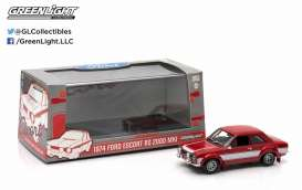 GreenLight - Ford  - gl86066 : 1974 Ford Escort RS 2000 MKI, red with white stripes.