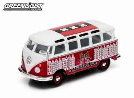 GreenLight - Volkswagen  - gl50996A : 1962 Volkswagen Samba Bus *Amsterdam*, red/white with Amsterdam scene in Really nice Amsterdam packaging.