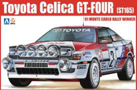 Aoshima - Toyota  - abk184229 : 1991 TOYOTA CELICA GT-FOUR(ST165) MONTE CARLO RALLY WINNER, plastic modelkit
