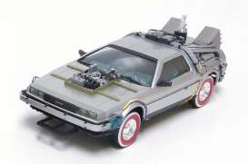 Aoshima - Delorean  - abk111874 : 1/24 Delorean LK Coupe & Railroad *Back to the Future III*, plastic modelkit