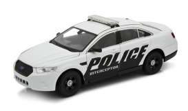 Welly - Ford  - welly24045w : 2013 Ford Police Interceptor, white/black