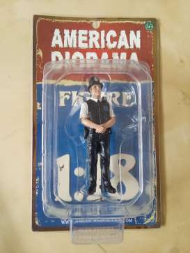 American Diorama - Figures  - AD23991 : 1/18 UK Police Men Figure. Great Diorama item to add to all your 1/18 English Police Cars.