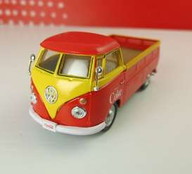 Motor City Classics - Volkswagen  - mocity442338 : 1962 Volkswagen T1 Pick-up *Coca Cola*, red/yellow