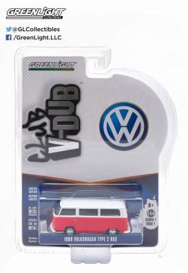 GreenLight - Volkswagen  - gl29790D : 1968 VW Type 2 Bus *Club Vee-Dub series 1*, titan red/cloud white