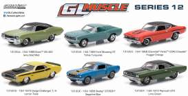 GreenLight - Assortment/ Mix  - gl13120~12 : 1/64 Muscle Series 12, mix box with 12 pcs.
