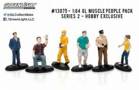 GreenLight - Accessoires Figures - gl13075 : Muscle People pack series 2. With 6 nice figures in scale 1/64
