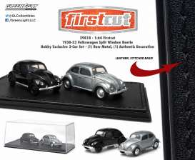 GreenLight - Volkswagen  - gl29818 : 1938-53 Volkswagen Split Window Beetle *Firstcut Series* 2-pack. One Firstcut car and one decorated car.