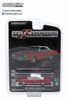 GreenLight - Dodge  - gl27770A : 1967 Dodge Coronet R/T *Anniversary Collection Series 2*, high octane red