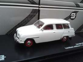 Triple9 Collection - Saab  - T9-43067 : 1961 Saab 95, white with red rims and white wall tyres