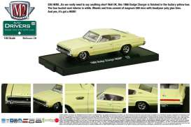 M2 Machines - Dodge  - M2-11228-28-2 : *M2-Drivers release 28*; 1966 Dodge Charger HEMI, yellow