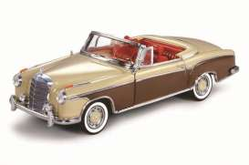 SunStar - Mercedes  - sun3574 : 1958 Mercedes Benz 220 SE Open Convertible, light beige/mid brown
