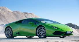 Kyosho - Lamborghini  - kyoJ004GN : 2014 Lamborghini Huracan *resin*, green (Real Car Image, Not Final Yet !!)
