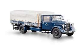 CMC - Mercedes  - cmc144 : 1934-38 Mercedes Benz Racing Car Transporter LO 2750, blue/white