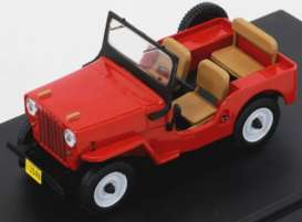 Ixo Premium X - Willys  - ixPRD365 : 1953 Willys Jeep CJ3B, red