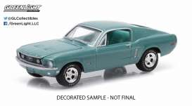 GreenLight - Ford  - gl13120B : 1968 Ford Mustang GT, tahoe turquoise