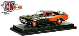 M2 Machines - Plymouth  - M2-40300-46B : 1971 Plymouth HEMI Cuda *50 Years HEMI*, black/orange