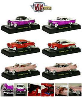 M2 Machines - Assortment/ Mix  - M2-32500-30~6 : *Auto-Thentics Release 30* 2x 1959 Cadillac Series 62, 2x 1955 Pontiac Star Chief and 2x 1955 Dodge Royal Lancer.