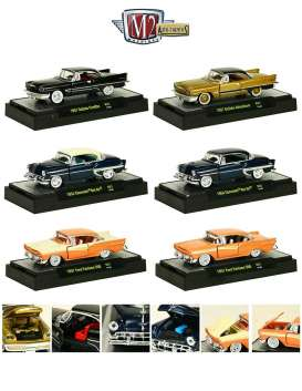 M2 Machines - Assortment/ Mix  - M2-32500-31~6 : *Auto-Thentics Release 31* 2x 1957 Desoto Fireflite/Adventurer, 2x 1954 Chevrolet Bel Air and 2x 1957 Ford Fairlane 500