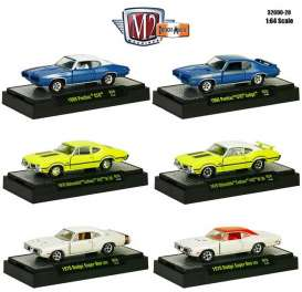 M2 Machines - Assortment/ Mix  - M2-32600-28~6 : *Detroit Muscle Release 28*2x 1970 Dodge Super Bee 383,2x 1970 Oldsmobile Cutlass 442 W30,1x 1969 Pontiac GTO and 1x 1969 Pontaic GTO Judge