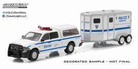 GreenLight - Dodge  - gl32040D : 2014 Dodge Ram 1500 pick-up NYPD with NYPD Horse Trailer.