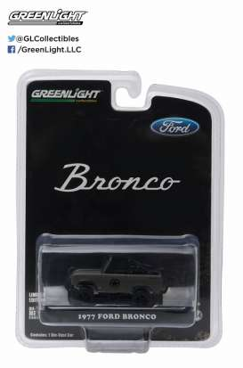 GreenLight - Ford  - gl29842 : 1977 Ford Bronco Military Tribute *Sarge 77*