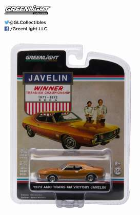 GreenLight - Dodge  - gl29837 : 1973 AMC Javelin *Winner Trans Am Championship 1971-72*