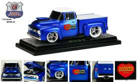 M2 Machines - Ford  - M2-40300-47B : 1956 Ford F-100, satin blue with pearl white top.