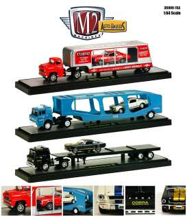 M2 Machines - Assortment/ Mix  - m2-36000-15A~6 : *Auto Haulers series 15A*. 2 each of the 1959 Chevrolet LCF Truck + 69 Camaro, 1964 Ford C-950 Truck + 66 Shelby GT350, 1964 Ford C-950 Truck + 66 Shelby GT350H.
