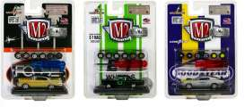 M2 Machines - Assortment/ Mix  - M2-34001-01~6 : *Auto-Wheels Release 30* 2x 1957 Chevrolet Bel Air, 2x 1969 Plymouth Road Runner and 2x 1970 Ford Mustang Boss. With screwdriver and 2 extra set wheels.