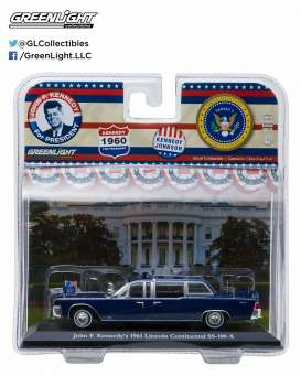 GreenLight - Lincoln  - gl86110A : 1961 Lincoln Continental SS-100-X John F. Kennedy (Democrat)