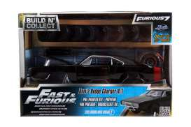 Jada Toys - Dodge  - jada97363 : 1970 Dodge Charger Off Road Pre-Painted Modelkit *Fast and Furious 7*, black