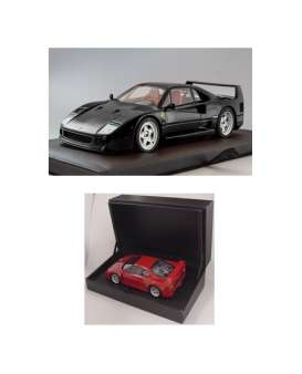 Kyosho - Ferrari  - kyoPHR1802bk : 1/18 Ferrari F40 *resin series* (with Metal chassis), black