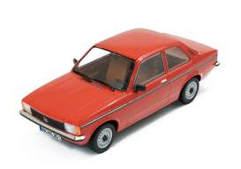 Triple9 Collection - Opel  - T9-1800122 : Opel Kadett C2 1977 2 door *Diecast Sealed Body Series*, red with brown interior
