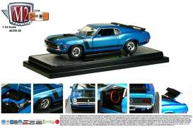 M2 Machines - Ford  - M2-40300-48B : 1970 Ford mustang Boss 302, blue