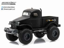 GreenLight - Dodge  - gl27840A : 1941 Dodge Militairy 1/2 Ton 4x4 pick-up *Black Bandit Series 14*, black