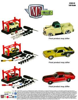 M2 Machines - Assortment/ Mix  - M2-37000-06~5 : *M2-Model kit series 06* assortment of 5.