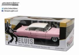GreenLight - Cadillac  - gl12950 : 1955 Cadillac Fleetwood series 60 *Elvis Presley 1935-77*, pink with white roof