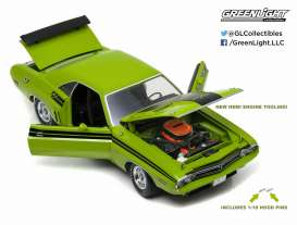 GreenLight - Dodge  - gl12960 : 1971 Dodge Challenger Hemi R/T, green go