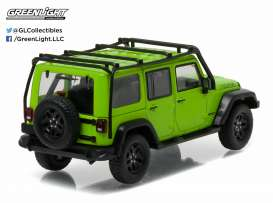 GreenLight - Jeep  - gl86078 : 2013 Jeep Wrangler unlimited *Moab Edition*, Gecko Green with roof rack