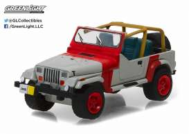 GreenLight - Jeep  - gl29856 : 1993 Jeep Wrangler YJ, red and grey.