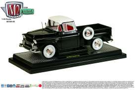 M2 Machines - GMC  - M2-40300-50A : 1958 GMC Stepside Truck  , Black with white top
