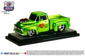 M2 Machines - Ford  - M2-40300-50B : 1956 Ford F-100 Truck Ground Pounders , lime green