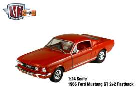 M2 Machines - Ford  - M2-40300-49C : 1966 Ford Mustang 2+2 GT, Brown red