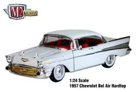 M2 Machines - Chevrolet  - M2-40300-49A : 1957 Chevrolet Bel Air, White