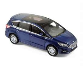 Norev - Ford  - nor270547 : 2015 Ford S-max, blue metallic