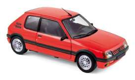 Norev - Peugeot  - nor184853 : 1988 Peugeot 205 GTI 1.6, vallelunga red