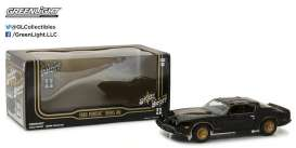 GreenLight - Pontiac  - gl84031 : 1980 Pontiac Trans Am *Smokey and the Bandit II*, black/gold. 1/24 Hollywood series with Opening Front Doors !!